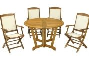 Henley Gateleg Set - Henley Round 120cm Table & 4 x Henley Highback Armchairs