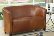 Seattle 2 Seater Club sofa -ANTIQUE LEATHER