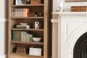 Florence Mango and Stone Tall Bookcase With Drawer