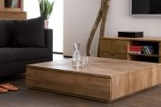 Groove Teak coffee table
