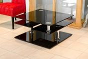 Black Glass Motion Coffee Table
