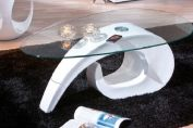 COISA MODERN CLEAR GLASS TOP COFFEE TABLE