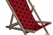 Red and Black Polka Dot Deckchair