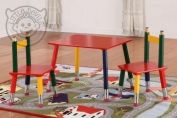 3 PIECE PENCIL TABLE AND CHAIR SET