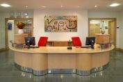 2 Person Beech Reception Counter
