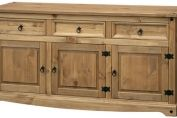 Pereza Mexican Pine 3 Door, 3 Drawer Sideboard