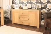 Aston Oak Sideboard Contemporary Oak Furniture by Baumhaus