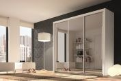Bergen 3 Door Sliding Wardrobe with Mirrored Doors