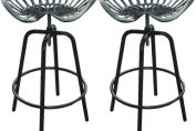 Pair of Industrial Tractor Bar Stools