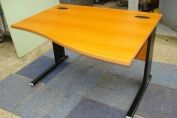 1200mm Cherry Wave Desk - Cantilever
