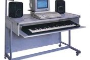 Computer Music Workstation with raised shelves - Strata CW1