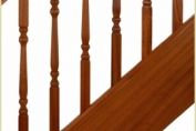 Sapele Shown in Provincial Style Spindles