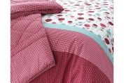 Kirstie Allsopp Lydia Qulited Bed Throw, Cherry