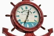 LARGE Vintage Style Nautical Anchor Wall Clock 72cm