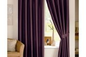 Java Faux Silk Lined Pencil Pleat Curtain, Pair , 167cm x 137cm, Aubergine