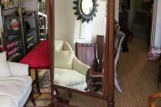 19TH CENTURY MAHOGANY CHEVAL MIRROR